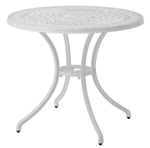 リーズ ラウンドテーブル IGF-T03W(35081000)(タカショー)送料無料 ガーデンファニチャー ガーデン家具 ガーデンテーブル 机 アルミ鋳物 ホワイト 白色