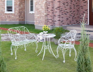 ロアンヌ シングルチェアー IGF-C02(35043800)(タカショー)送料無料 ガーデンファニチャー ガーデン家具 ガーデンチェアー イス 椅子 ホワイト スチール