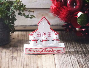 スノーマンドゥポワンチャーチ【クリスマス プレート 小物 オーナメント 置物 雪だるま だるま Christmas Xmas】