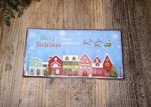 ノエルファンストリートプレート【クリスマス プレート 小物 オーナメント 置物 ハウス Christmas Xmas】