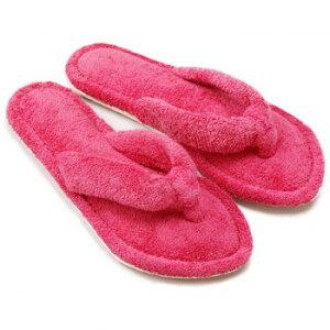 足指ほどけるタオルスリッパ ローズ リラックス 静音 静か やさしい かわいい 指圧 パイル 歩行音 UCHINO パタパタ ふわふわ 洗濯可 室内