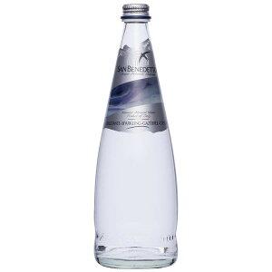 Sanbenedetto サンベネデット スパークリングウォーター グラスボトル 750ml×12本 ナチュラルミネラルウォーター 水分補給 テーブルウォーター 贈り物 炭酸入り イタリア 炭酸水 ミネラル お