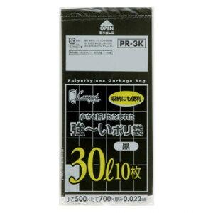 ジャパックス コンパクト強〜いポリ袋30L 黒 10枚×60冊 PR3K