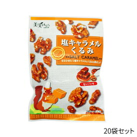 福楽得 美実PLUS 塩キャラメルくるみ 37g×20袋 食品 おかし ジップ付 胡桃 チャック付 おやつ ビタミン類 おつまみ ローストナッツ 食物繊維 ミネラル類