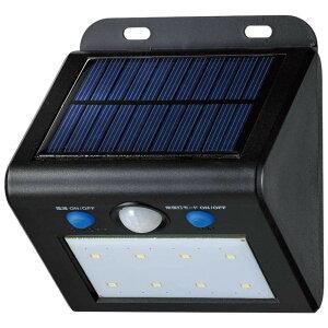 明かり 人感 防雨 動き 常夜灯モード 屋外 人 太陽光 照明 電気 車 ELPA(エルパ) 屋外用 LEDセンサーウォールライト ソーラー発電式 電球色 ESL-K101SL(L)