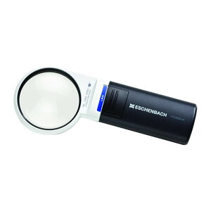 エッシェンバッハ LEDワイドライトルーペ (3倍) 1511-2 ポータブル 持運び 携帯 ライト付 コンパクト 3x 拡大鏡 非球面レンズ