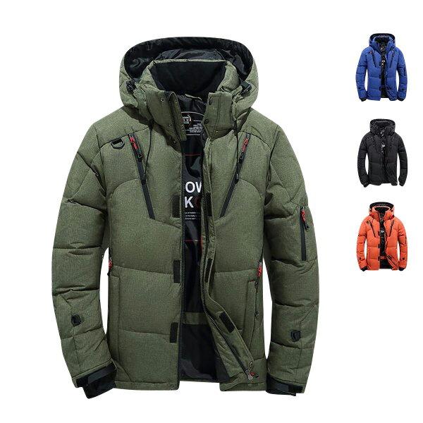 【送料無料】 ダウンジャケット メンズ ダウンジャケット 軽量 黒 ダウン 大きいサイズ フード付き ハイネック 防寒 冬物 冬服 メンズ アウター 2L 3L 4L