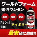 【750ml 1本】一液型発泡ウレタンフォーム ワールドフォーム【アイボリー色】