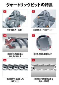 フィッシャーSPSプラス(SDSplus)クォートリックドリルビット4枚刃刃先径:8mm有効長:100mm全長:160mm【SDSプラス(SDSplus)ハンマードリル用刃】