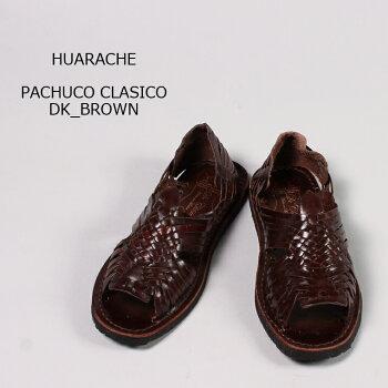 HUARACHE(ワラチ)PACHUCOCLASICO-DKBROWNワラチサンダルレザーサンダルメンズ
