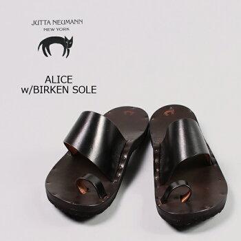 JUTTANEUMANN(ユッタニューマン)ALICEw/BIRKENSOLE/BLACK_LATIGO