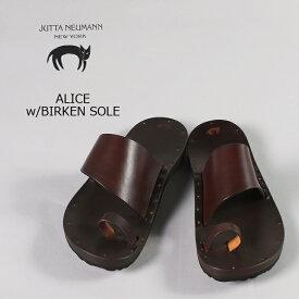 【2019春夏 クリアランスセール】JUTTA NEUMANN (ユッタニューマン) ALICE w/BIRKEN SOLE / DKBROWN_LATIGO