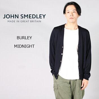 JOHNSMEDLEY(ジョンスメドレー)BURLEY-MIDNIGHTカーディガンVネックメンズ