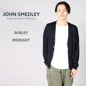 【並行輸入品】JOHN SMEDLEY (ジョンスメドレー) BURLEY - MIDNIGHT カーディガン Vネック メンズ