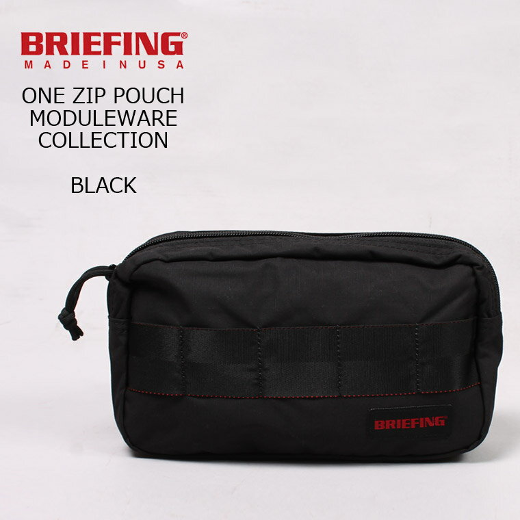 BRIEFING (ブリーフィング) ONE ZIP POUCH MW - BLACK ポーチ 小物入れ メンズ