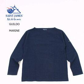 【並行輸入品】SAINT JAMES (セントジェームス) GUILDO SOLID - MARINE ギルド カットソー メンズ