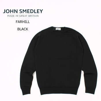 JOHNSMEDLEY(ジョンスメドレー)FARHILL-BLACKクルーネックニットメンズ