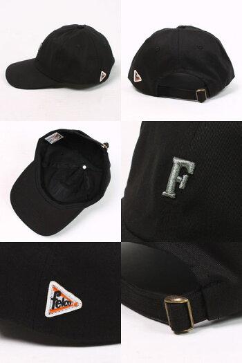 FELCO(フェルコ)TWILLBBCAPwSMALLEMBROIDERY-BLACKFMEDGRAYベースボールキャップメンズレディース