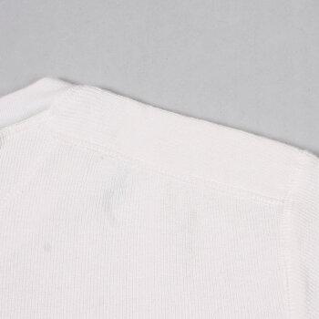 EMPIRE&SONS(エンパイアアンドサンズ)L/SHENLEYNECK-THALFCARDIGANSTITCH-OFFWHITE_WHITEヘンリーネックTシャツメンズ