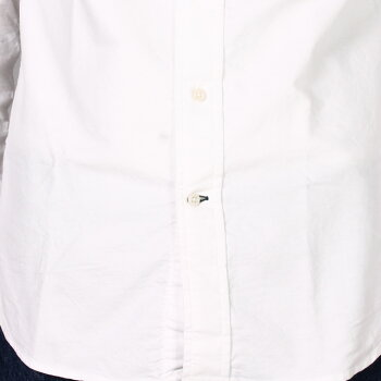 GITMANVINTAGE(ギットマンヴィンテージ)L/SBDOXFORDSHIRT-WHITEオックスフォードシャツ
