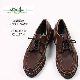 RUSSELL MOCCASIN (ラッセル モカシン) ONEIDA SINGLE VAMP - CHOCOLATE OIL TAN 革靴 メンズ