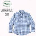 KEATON CHASE USA (キートンチェイスユーエスエー) L/S STANDARD BD LARGE GINGHAM SHIRT LIGHT LINING - WHITE_NAVY_ROYAL ボタンダウ…
