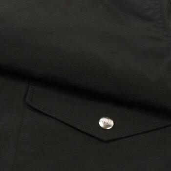 FELCO(フェルコ)COACHJACKETSNAPBUTTONWATERPROOFNYLON-BLACKコーチジャケットメンズ