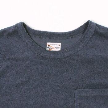 FELCO(フェルコ)S/SPILESETINCREW-NAVYパイルTシャツメンズ