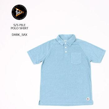 FELCO(フェルコ)S/SPILEPOLOSHIRT-DARKSAXポロシャツメンズ