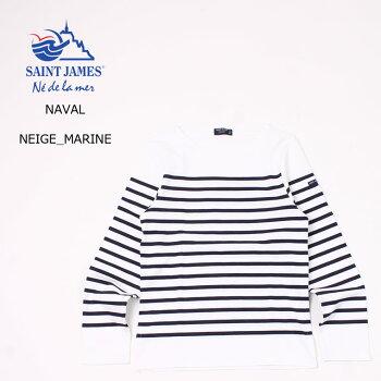 SAINTJAMES(セントジェームス)NAVAL-NEIGE_MARINEナバルボーダーカットソーメンズ