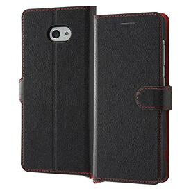 BASIO 4 ケース 手帳型 シンプル マグネット ブラック レッド 使いやすい カードポケット スタンド ストラップホール おしゃれ クリスマス