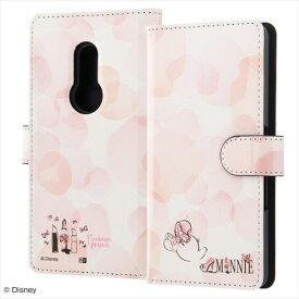 arrows Be4 手帳型 アートケース ディズニー ミニーマウス ピンク キャラクター カードポケット ストラップホール マグネット