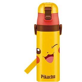 スケーター 水筒 ピカチュウ 470ml SDC4 黄色 男の子 女の子 ポケットモンスター 可愛い コンパクト ワンプッシュ