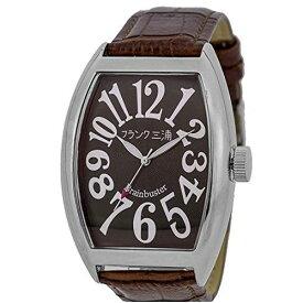 フランク三浦 FRANKMIURA 腕時計 六号機 マグナム 革ベルト ブラウン FM06K-BRSV メンズ