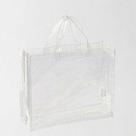 透明バッグ クリアバッグ トートバッグ Mサイズ 透明ビニール A4対応 幅32 高さ28 マチ10cm CB-3225 痛バッグ