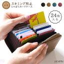 カードケース 大容量 じゃばら 本革 スキミング防止 カード入れ レディース メンズ 「レザー ジャバラ スキミング 防止 2連 カードケース」 磁気防止 カード収納 名刺入れ メール便 送料無料
