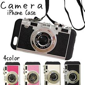 【 送料無料 】 iPhoneケース スマホケース カメラ型 ストラップ付 | iPhoneSE2 第2世代 iPhone11 11Pro 11ProMax iPhoneX XS XR XSMax iPhone8 8Plus iPhone7 7Plus iPhone6 iPhone6s 6Plus iPhone5 SE 携帯ケース 可愛い アイフォンケース かわいい スマホ
