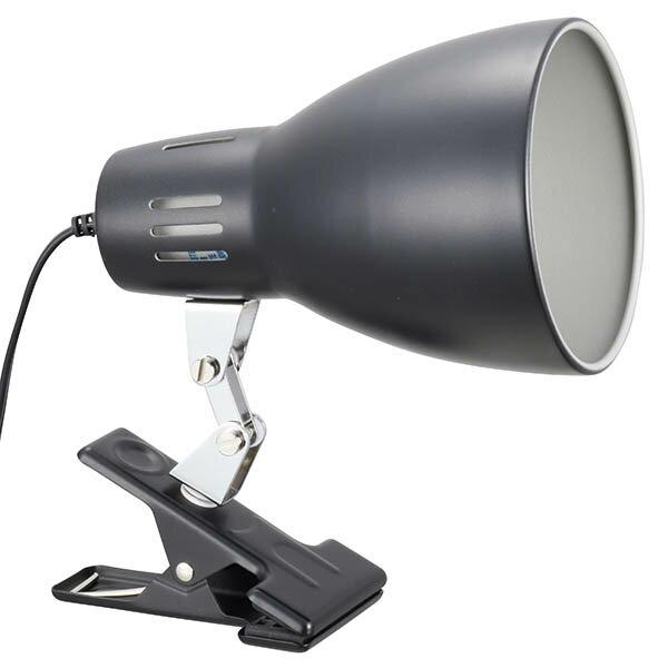 LTC-N1BW-K クリップライト E26 ブラック【電球別売】 OHM(オーム電機)