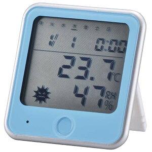 TEM-300-A 【インフルエンザ・熱中症注意機能付き】温湿度計 ブルー OHM(オーム電機)