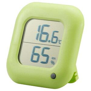 TEM-100-G デジタル温湿度計 グリーン OHM(オーム電機)