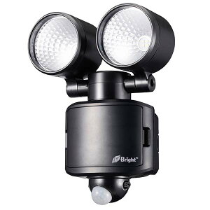 LS-B285B-K LEDセンサーライト(2灯/560lm/乾電池式) OHM(オーム電機)