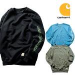 『CARHARTT/カーハート』crhtt104441MIDWEIGHTCREWNECKLOGOGRAPHICSWEATSHIRT/ミッドウェイトクルーネックロゴグラフィックスウェットシャツ-全3色-カジュアル/プリント/ロゴ/リブ/ストリート/ORIGINALFIT/ビッグサイズ[CRHTT104441]