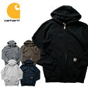 『CARHARTT/カーハート』crhtt-k122 MIDWEIGHT HOODED ZIP-FRONT SWEATSHIRT / ミッドウェイト ジップフロント スウェットシャツ -全5…