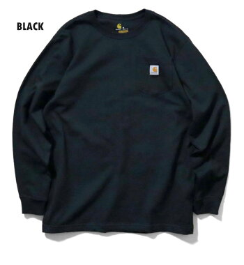 『CARHARTT/カーハート』crhtt-k126LONGSLEEVEWORKWEARPOCKETT-SHIRT/ワークウェアポケット長袖Tシャツ-全9色-カジュアル/コットン/リブ/アメカジ/ORIGINALFIT/LOOSEFIT[CRHTT-K126]