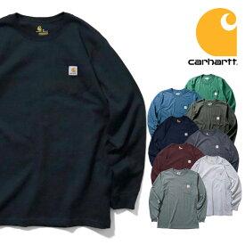 【期間限定特別価格】『CARHARTT/カーハート』 crhtt-k126 LONG SLEEVE WORKWEAR POCKET T-SHIRT / ワークウェア ポケット長袖Tシャツ -全9色- カジュアル / コットン / リブ / アメカジ / ORIGINAL FIT/LOOSE FIT[CRHTT-K126]