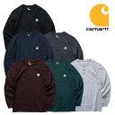 『CARHARTT/カーハート』 crhtt-k128 LONG SLEEVE WORKWEAR H/N POCKET T-SHIRT / 長袖 ワークウェア ヘンリーネックポケットTシャツ -…