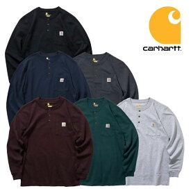 『CARHARTT/カーハート』 crhtt-k128 LONG SLEEVE WORKWEAR H/N POCKET T-SHIRT / 長袖 ワークウェア ヘンリーネックポケットTシャツ -全6色- アメカジ/シンプル/ロゴ/ボタン/パッチ/リブ/長袖 / ロンT[CRHTT-K128]