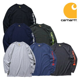 『CARHARTT/カーハート』 crhtt-k231 LONG SLEEVE GRAPHIC LOGO T-SHIRT / ロングスリーブ グラフィックロゴ Tシャツ -全6色- 「カジュアル」「コットン」「リブ」「アメカジ」「プリント」「ORIGINAL FIT」「ヘビーオンス」[CRHTT-k231]