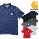 『CARHARTT/カーハート』crhtt-k570 CONTRACTOT'S WOTK POCKET POLO SHIRT / コントラクターワークポケットポロシャツ -全7色-/RELAXED…