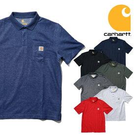 『CARHARTT/カーハート』crhtt-k570 CONTRACTOT'S WORK POCKET POLO SHIRT / コントラクターワークポケットポロシャツ -全7色-/RELAXED FIT / ワークウェア / STAIN BREAKER/6オンス/[crhtt-k570]